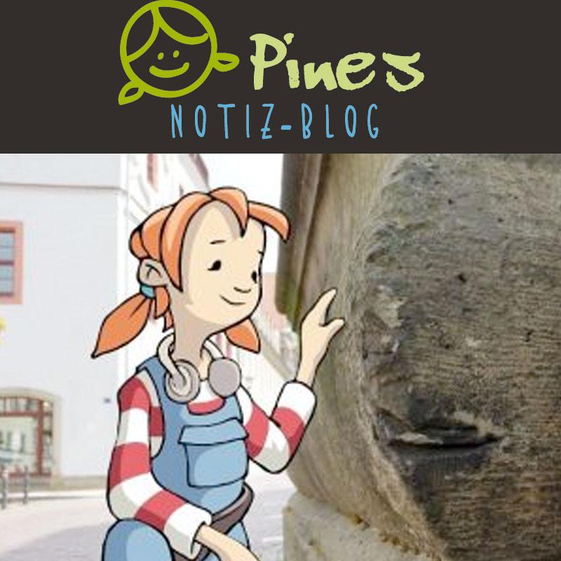 Pirnas Kinderbloggerin Pine entdeckt die Sandsteinstadt auf abenteuerliche Weise.
